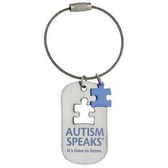 Autism Speaks Dog Tag Keychain Autism Speaks; dog tag keychain, luggage tag, keychain, keytag, awareness