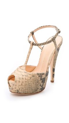 "Giuseppe Zanotti Monro T Strap Sandals ""I have a pair of strapy Dollhouse snakeskin sandals that have always been my favorite shoe from my collection, but I think I may have found a new fave!"