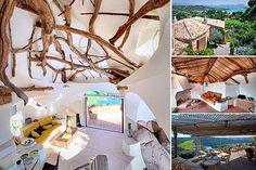 House inspired by branches, Costa Smeralda, Sardinia, Italy (photos: Luxury Portfolio International) via Yahoo real estate