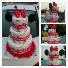 I made a Minnie Mouse diaper cake for my cousin Crystal #1 view