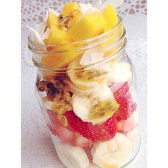 Fruit salad #putitinajar by nutsaboutfruit http://ift.tt/1jCNeQ8