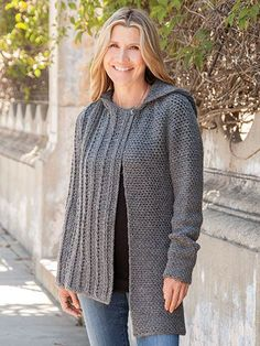 This asymmetrical cardigan has a one-button, off-center closure, long sleeves, a hood, hits at hip on right side of garment and falls 4 inches lower on left side of garment. I #Promotion, #PaidAd, #ad, #affiliatelink