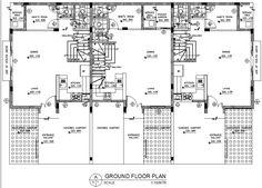 floor plan of 3-storey triplex unit