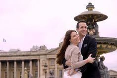 Couple pre wedding portrait session shot by olivier Lalin from WeddingLight Paris shot place de la Concorde