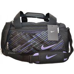 61f555ed0b98 Nike Max Air Black and Purple Tarpaulin Small Duffel at OrlandoTrend.com   OrlandoTrend