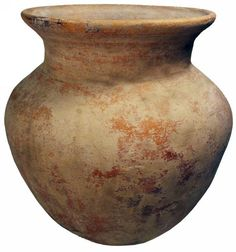 Sadigh Gallery's Ancient Holy Land red terracotta vessel with a spherical shape. Middle bronze age.