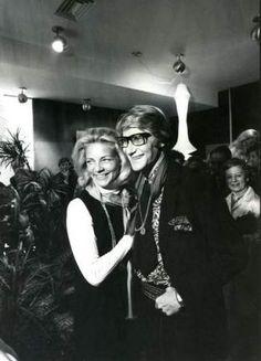 Ken REGAN, Lauren Bacall et Yves Saint-Laurent, 1968
