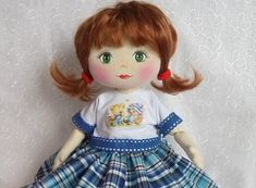 Ручная одежда текстильная кукла