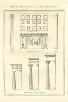 Greek Columns, decorated Walls & Coffer Ceilings #diyfurniture