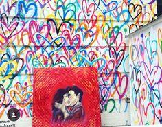 When your art finds the best spot #soho #newyork #nyc #ny #oilpainting #thelovers #prado #heartsbleeding