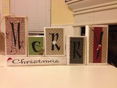Wood blocks and Happy New Year on other side