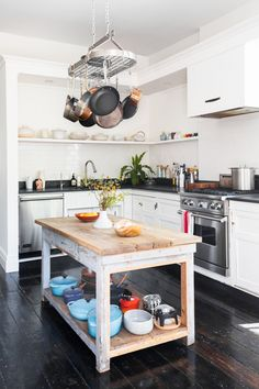stylish kitchen with inventive storage