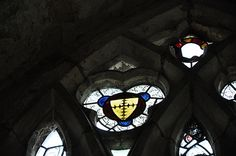 South Newington- Medieval stained glass 189