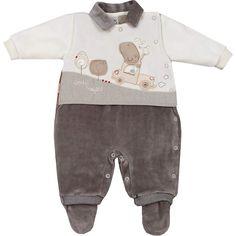 Macacão Recém Nascido e Bebê Menino em Plush Marrom - Sonho Mágico :: 764 Kids   Roupa bebê e infantil