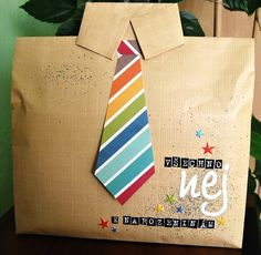 dárek pro chlapa/ how to package present for guy