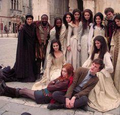 Karen Gillian and Matt Smith on Vampires of Venice set