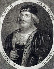 David II (Medieval Gaelic: Daibhidh a Briuis, Modern Gaelic: Dàibhidh Bruis; Norman French: Dauid de Brus, Early Scots: Dauid Brus; 5 March 1324 – 22 February 1371) was King of Scots from 7 June 1329 until his death.