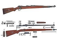 Karabiner 98 Kurz The Kar.98k was the standard rifle of the Greater German Reich and represented what many consider the final evolution of Paul Mauser's Model 1898 action; its cock-on-open, front locking action and staggered box magazine are widely considered the perfected bolt action rifle. Note that military doctrine for infantry rifles had long been that a underside rear sling mount was important for assisting in accurate fire and ease of carry on the march.
