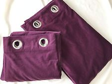 Ikea Sanela Curtain Pair Grommet Panels Lilac Purple 55 X 98 Cotton Velvet