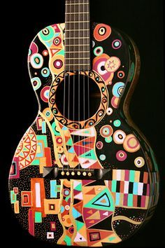 Guitar Lessons Fingerpicking Home Info: 2792057377 Acoustic Guitar Art, Ukulele Art, Music Guitar, Cool Guitar, Playing Guitar, Painted Ukulele, Painted Guitars, Taylor Guitars, Kalimba