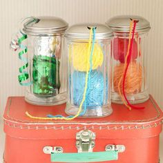 Another Idea for a yarn holder.