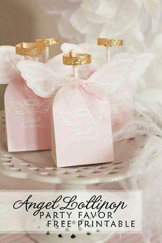 Bolsas de angel para los recuerdos de bautizo