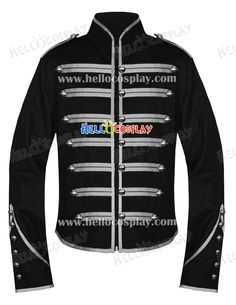 Emo Silver Military Parade My Chemical Romance Jacket - Only question is, is it cheaper to make than to buy? A possible alternative to the groom's tux.