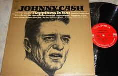 Johnny Cash~Happiness is You~Wabash Cannon Ball, You Comb Her Hair++ LP Vinyl Record Album