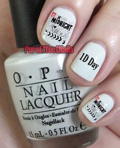 Midnight Memories One Direction Nail Decals by PureEffectNails, $4.00