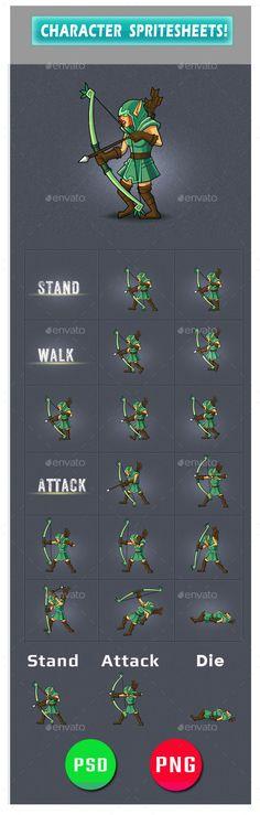 Enemy Game Assets #4 - #Sprites #Game Assets Download here: https://graphicriver.net/item/enemy-game-assets-4/20330577?ref=alena994