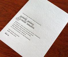 Natalie's minimal design layout sets the tone for a trendy yet elegant wedding event.