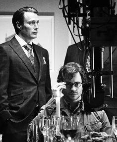 Mads Mikkelsen and Hugh Dancy / Hannibal set