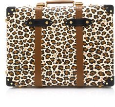 Shop Charlotte Olympia x Globe-Trotter Leopard-Print Leather Trolley Case .  This   Charlotte Olympia x Globe-Trotter   suitcase is the perfect luggage  piece ... 62af2d474123
