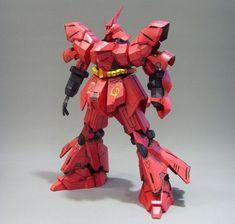 MSN-04 Sazabi Ver.6 Gundam Papercraft Free Template Download