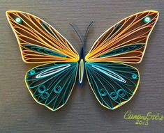 Quilled butterfly with bright colors. by Димитра Канева