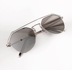 * Amazing statement reflectors in silver. * Feature metal line across top Eyewear, Mirrored Sunglasses, Metal, Silver, Eyeglasses, Metals, Sunglasses, Eye Glasses, Glasses