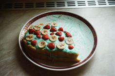 something sweet. banana strawberry cake