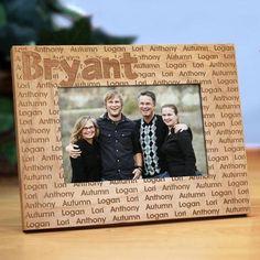 Personalized Custom Family Name Wood Frame