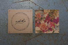 Surface Designer Cards Flower pattern designed by Natalie Atkinson  Flat printed on Buffalo Kraft 280gsm