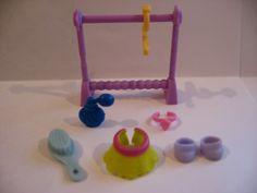 Littlest Pet Shop Clothes Rack Hanger Perfume Necklace Brush Skirt Shoes Access | eBay