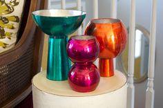 DIY Mod Metallic Glass Candleholders -matsutake