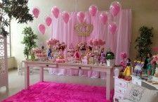 Decoração de Festa Infantil Princesas Disney simples e bonito