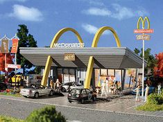 Vollmer N Scale McDonald's Kit at BLW.  I can feel my 1:160 size arteries hardening now...