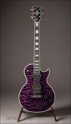 The Daily Git Gibson Les Paul Custom, Trans Violet Quilt Easy Guitar, Guitar Tips, Guitar Art, Music Guitar, Cool Guitar, Guitar Lessons, Guitar Tattoo, Les Paul Custom, Gibson Les Paul