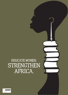 Poster promoting educating girls in Africa.