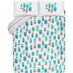 A Cactipus! Bring colour and character into your bedroom with this cactipus print duvet set. Featuring a long-lasting colour finish for easy care, this set stays soft wash after wash. Queen Sheets, Bed Sheets, Duvet Sets, Duvet Cover Sets, Free Competitions, Linen Bedding, Bed Linens, Bed Styling, Bedroom Themes