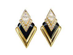 Swarovski Earrings SAL Swarovski Crystal Gold by zephyrvintage