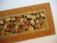 Autumn Table Runner Quilted focus fabric from by PicketFenceFabric, $33.95