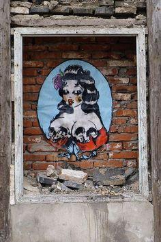 Street art. ,,paste up