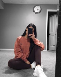 64 cute sporty outfits for school you must try 45 Cute Sporty Outfits, Lazy Outfits, Teen Fashion Outfits, Mode Outfits, Look Fashion, Sport Outfits, Trendy Outfits, School Outfits, Adidas Outfit